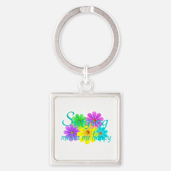 Singing Happiness Square Keychain