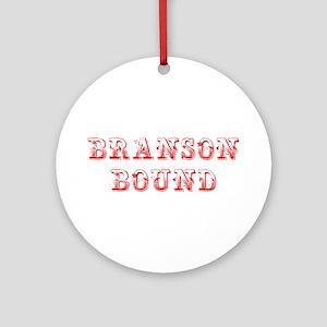 BRANSON-BOUND-MAX-DARK-RED Ornament (Round)