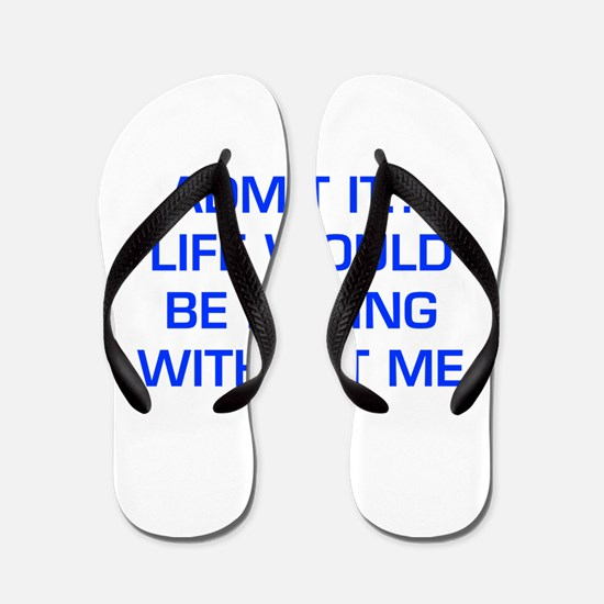 admit-it-EURO-BLUE Flip Flops