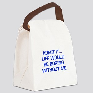 admit-it-EURO-BLUE Canvas Lunch Bag