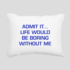 admit-it-EURO-BLUE Rectangular Canvas Pillow