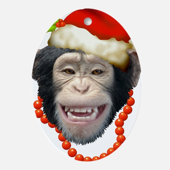 Cute Apes Oval Ornament