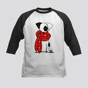 Jack Russell Red Scarf Baseball Jersey
