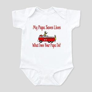 Firefighter Saves Lives-Papa Infant Bodysuit