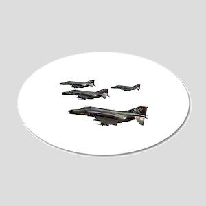 F-4 Phantom II 20x12 Oval Wall Decal
