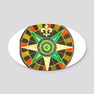 wheel 1 Oval Car Magnet