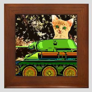 Kitten tank Framed Tile