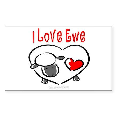 I Love You Rectangle Sticker