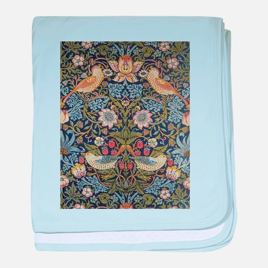 William Morris Strawberry Thief Desig baby blanket