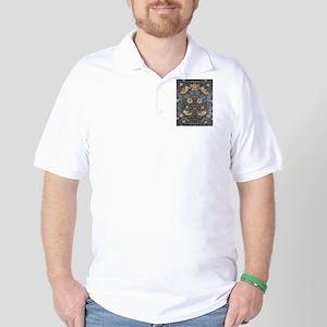 William Morris Strawberry Thief Design Golf Shirt