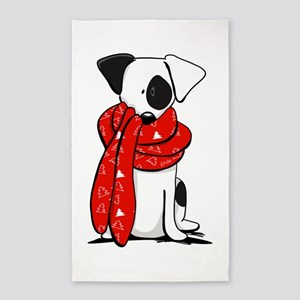 Jack Russell Red Scarf 3'x5' Area Rug