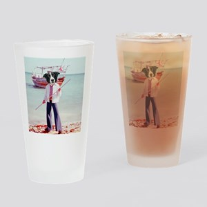 just collies boat Drinking Glass