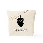Strawberry (black) Tote Bag