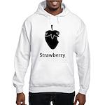 Strawberry (black) Sudaderas con capucha