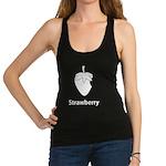 Strawberry (black) Racerback Tank Top
