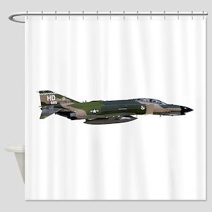 F-4 Phantom II Aircraft Shower Curtain