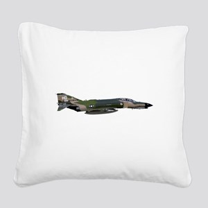 F-4 Phantom II Aircraft Square Canvas Pillow