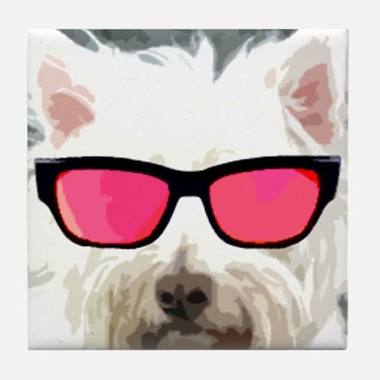 Roger The Dog Tile Coaster