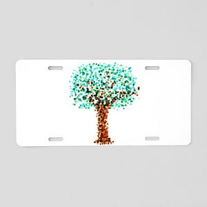 Stippled Digital Brush Painted Tree Aluminum Licen