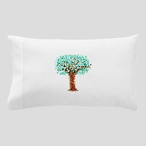 Stippled Digital Brush Painted Tree Pillow Case
