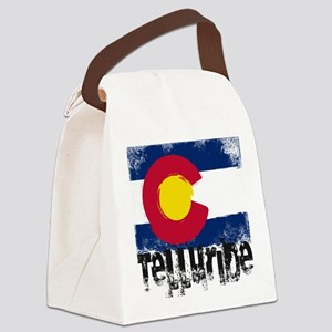 Telluride Grunge Flag Canvas Lunch Bag