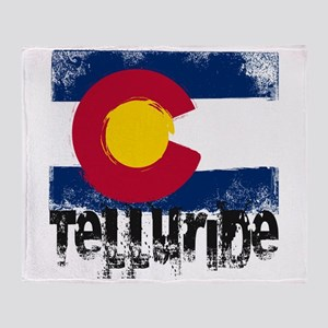 Telluride Grunge Flag Throw Blanket