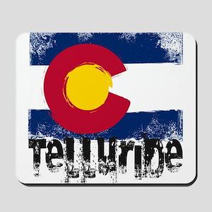 Telluride Grunge Flag Mousepad