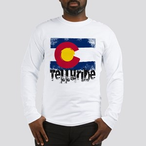 Telluride Grunge Flag Long Sleeve T-Shirt