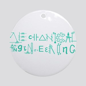 Mechanical Engineering Ornament (Round)