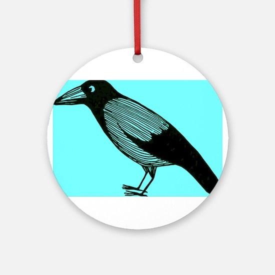 crow Ornament (Round)