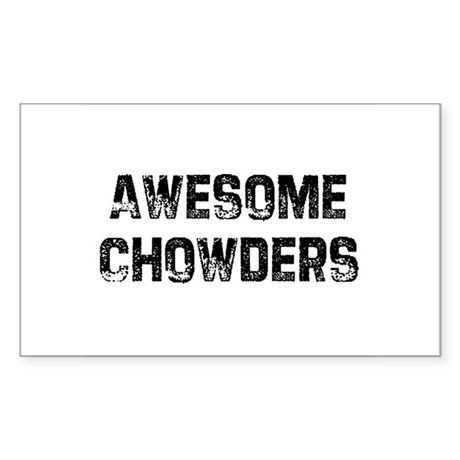 Awesome Chowders Rectangle Sticker