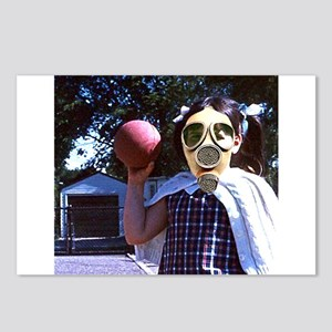 Play ball gas mask Postcards (Package of 8)