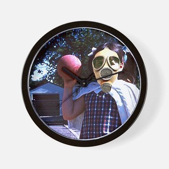 Play ball gas mask Wall Clock