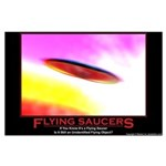 Flying Saucers Large Poster