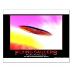 Flying Saucers Small Poster