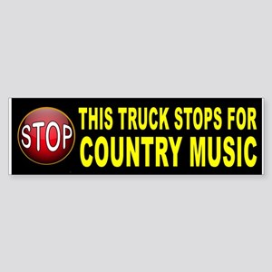 COUNTRY MUSIC BUMPER Bumper Sticker