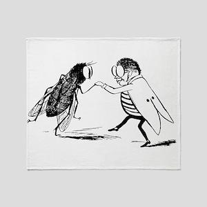 Vintage Dancing Bugs Throw Blanket