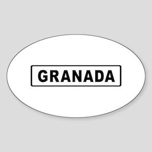Roadmarker Granada - Spain Oval Sticker