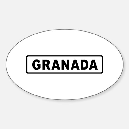 Roadmarker Granada - Spain Oval Decal