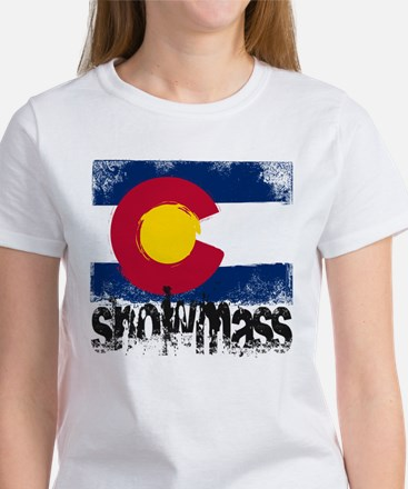 Snowmass Grunge Flag Women's T-Shirt