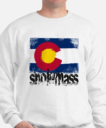 Snowmass Grunge Flag Sweater