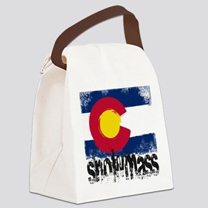 Snowmass Grunge Flag Canvas Lunch Bag