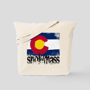 Snowmass Grunge Flag Tote Bag