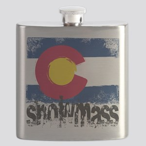 Snowmass Grunge Flag Flask