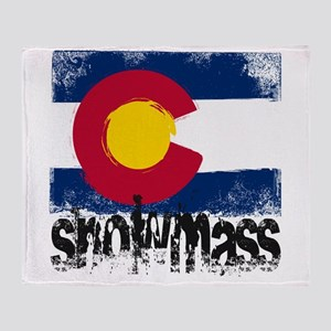 Snowmass Grunge Flag Throw Blanket