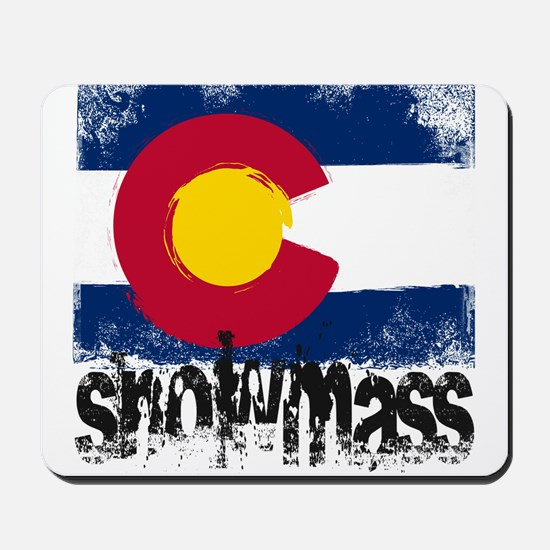 Snowmass Grunge Flag Mousepad