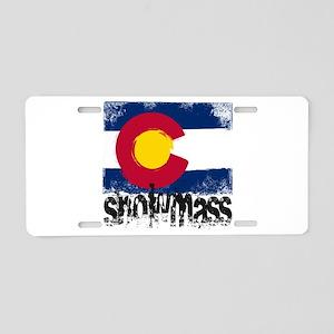 Snowmass Grunge Flag Aluminum License Plate