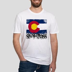 Snowmass Grunge Flag Fitted T-Shirt