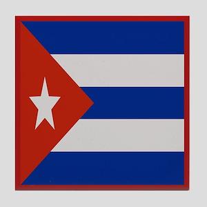 """Cuba Flag"" Tile Coaster"