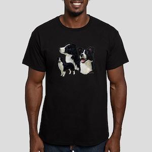 Border Collie Men's Fitted T-Shirt (dark)
